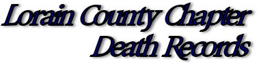 Lorain County Death Records