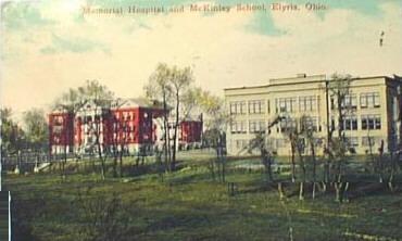 1915 Elyria Memorial Hospital and McKinley School